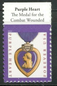 5419 Purple Heart Medal 2019 US Single With Header Mint/nh (Free Shipping)
