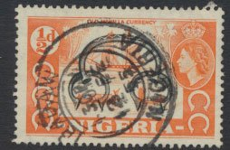 Nigeria  SG 69 SC# 80  Used QEII 1953 Definitive  Old Currency please see scan