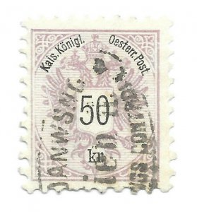 #46 Austria 2 short perfs - CAT $80.00 - Stamp