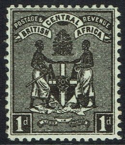 BRITISH CENTRAL AFRICA 1895 ARMS 1D NO WMK