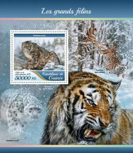 GUINEA - 2017 - Big Cats - Perf Souv Sheet - MNH