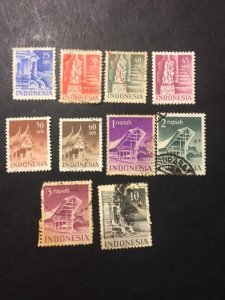 Netherlands Indies 318-320,321a,322,323,325-327,329 uhr