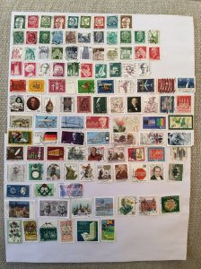 German 100+ stamps - Lot R