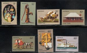 AUSTRALIA Scott 532-538 MH* Pioneer stamp set