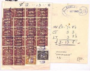 GB POSTAGE DUES *Margate* Kent Unusual HIGH RATE Licences Receipt 1963 AU142