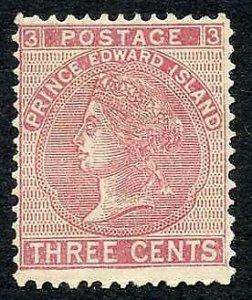 Prince Edward Island SG37 3c rose (toned) M/M