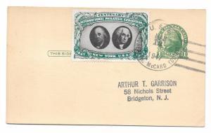 CIPEX Cinderella Tied UX27 1947 Navy Ship Cancel US Robert H McCard Poster Stamp