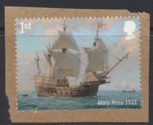 GB Royal Navy 1st Class 2019 Mary Rose QEII Used  on piece see scan