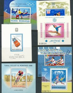 Lot Stamp Romania Sheets Olympics Sports Grenoble Innsbruck Argentina Soccer MNH