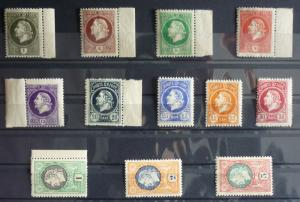 1921-MONTENEGRO-GAETA-FULL SET-12 VALUES WITHOUT OVERPRINT (MNH)-RARE! italy J1