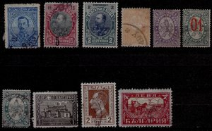 Bulgaria - #25,26,33,58,62,135,142,197,212 - Starting 1886 - Used - CV$4.00