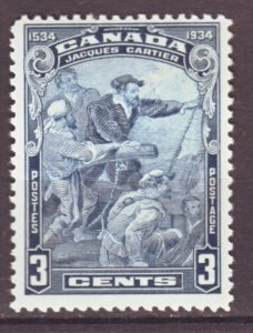 J22159 Jlstamps 1934 canada mh #208 cartier