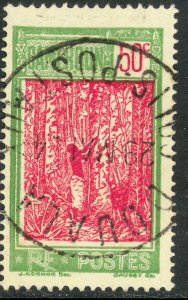 CAMEROUN 1925-38 50c TAPPING RUBBER TREE Pictorial Sc 188 VFU