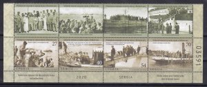 Serbia 2020 Italy Navy for Serbian Army History WW1 First World War Ships MNHb