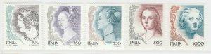 1998 Donna nell'Arte Prima Emissione 5 Valori MNH** A20P6F248
