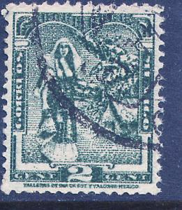 MEXICO 785, 2c 1934 Definitive. Tehuana girl. Used. (760)