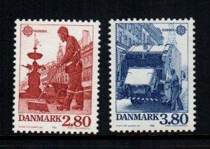 Denmark  826 - 827   MNH cat $ 6.00
