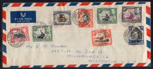 Kenya Uganda Tanganyika to Milwaukee,WI 1948 Airmail Cover
