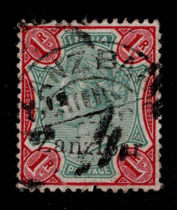 Zanzibar Scott 13 Used  1895 Queen Victoria nice color and cancel