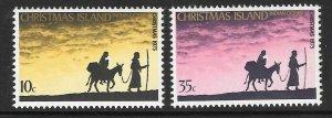 CHRISTMAS ISLAND SG61/2 1975 CHRISTMAS MNH