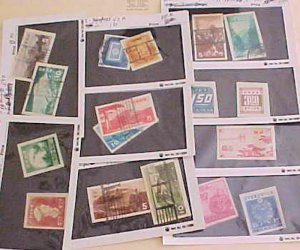 JAPAN STAMP 17 DIFF. IMPERFS FROM SHEETLETS HIGH CATALOG #381A/311