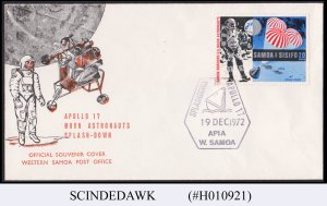 SAMOA - 1972 APOLLO 17 MOON ASTRONAUTS SPLASH-DOWN COVER WITH SPECIAL CANCL.