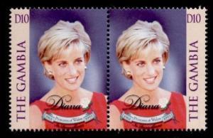 Gambia 2057 pair MNH Princess Diana