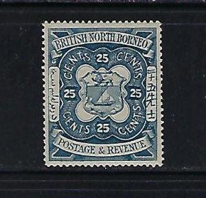 NORTH BORNEO SCOTT #44 1888 25C (SLATE BLUE) REDRAWN- MINT LIGHT HINGED