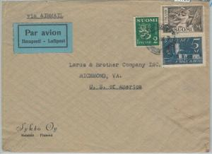71729 - FINLAND - Postal History -  Airmail COVER to USA 1946
