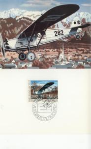 1979 Liechtenstein Mail Plane (Scott 663) Maxi FDC