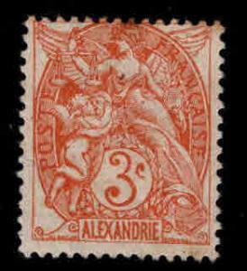 Alexandria Scott 18 MH* stamp, Toned gum at top