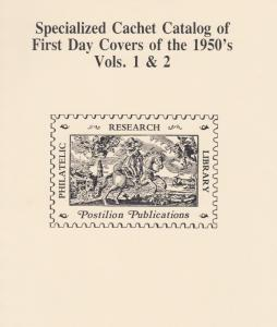 Mellone's Specialized Cachet Catalog of FDC's of the 1950's, complete, reprint.