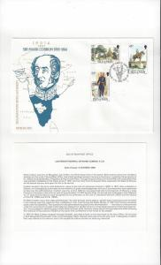 Isle of Man FDC 291-93 Sir Mark Cubbon 1985 Official Cachet