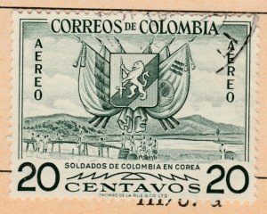 Colombia Air Post 1955 20c Fine Used A8P52F56