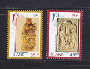 Iceland 832-833 Set MNH Christmas
