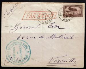 French Morocco 1931 Military Airmail Cover to France - Lot 100317