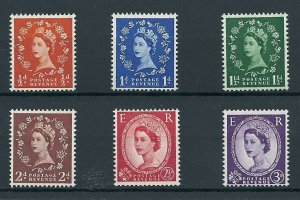 1957 1st graphites Full set of 6 values UNMOUNTED MINT