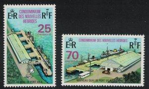 Fr. New Hebrides Opening of New Wharf at Port Vila 2v SG#F193-F194 SC#194-195