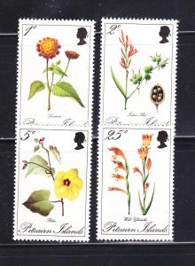 Pitcairn Islands 110-113 Set MNH Flowers (A)