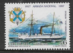 URUGUAY, 1693, MNH,NAVY SHIP