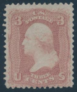 #65 3c 1861 F-VF OG NH CV $375+ AU725
