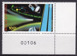 Wallis and Futuna 1986 Sc#C146  Halley's Comet  Set (1) Perforated MNH