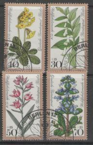 GERMANY SGB557/60 1978 HUMANITARIAN RELIEF FUND WOODLAND FLOWERS FINE USED