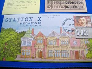 STATION X, BLETCHLEY PARK - FDC - SIGNED BY JEAN VALENTINE