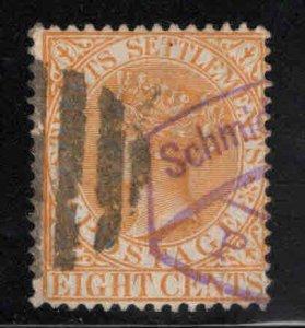 Straits Settlements Scott 49 Used  Queen Victoria stamp CA wmk