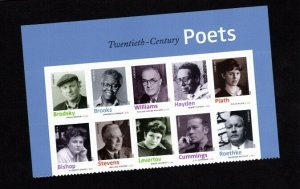 4654-4663 Poets Top Header Block of 10  MNH 4x6