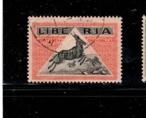 LIBERIA #192  1921  $1  ANTELOPE       F-VF  USED