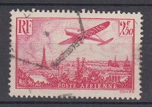 J29309, 1936 france used #c11 airplane