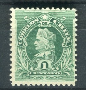 CHILE; 1901 early Columbus Perf. issue Mint hinged Shade of 1c. value