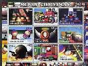 Turkmenistan 2001 South Park - Merry Christmas perf sheet...